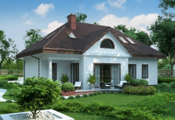 Большой красивый мансардный дом с гаражом в Севастополе
