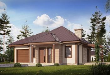Бюджетный дом 70 м.кв. / 2 к. / гараж в Севастополе проект