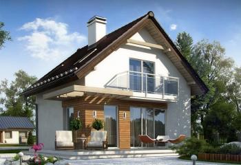 Мансардный дом 80 м.кв / 3 к. в Севастополе построить