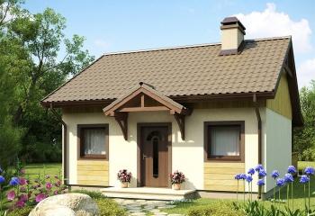 Бюджетный дачный дом 45 м.кв. / 2 к. построить в Севастополе недорого