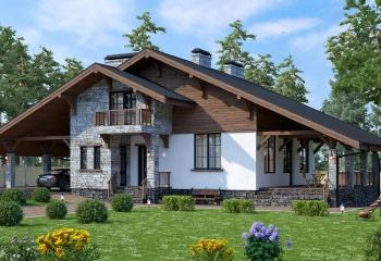 Дом в стиле шале 300 м.кв. 3 санузла, 5 к. , гараж в Севастополе