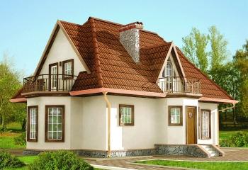Каркасный дом с мансардой / 167 м.кв. / 5 к. в Севастополе проект