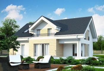 Загородный дом с мансардой 210 м.кв. / 5 к. / гараж в Севастополе проект